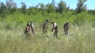 Ополченцы ЛНР уничтожили артиллеристов нацгвардии Украина видео боя