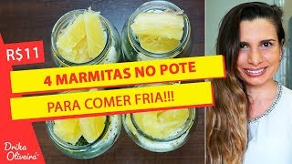 R$ 11 - MARMITA FITNESS NO POTE PARA COMER FRIA / NÃO PRECISA ESQUENTAR / Receita fit com ovo #Ep.41