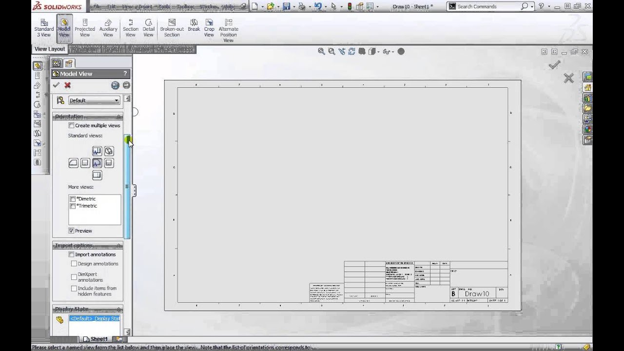 Solidworks 2013 fundamentals how to create drawings and for Solidworks drawing template tutorial