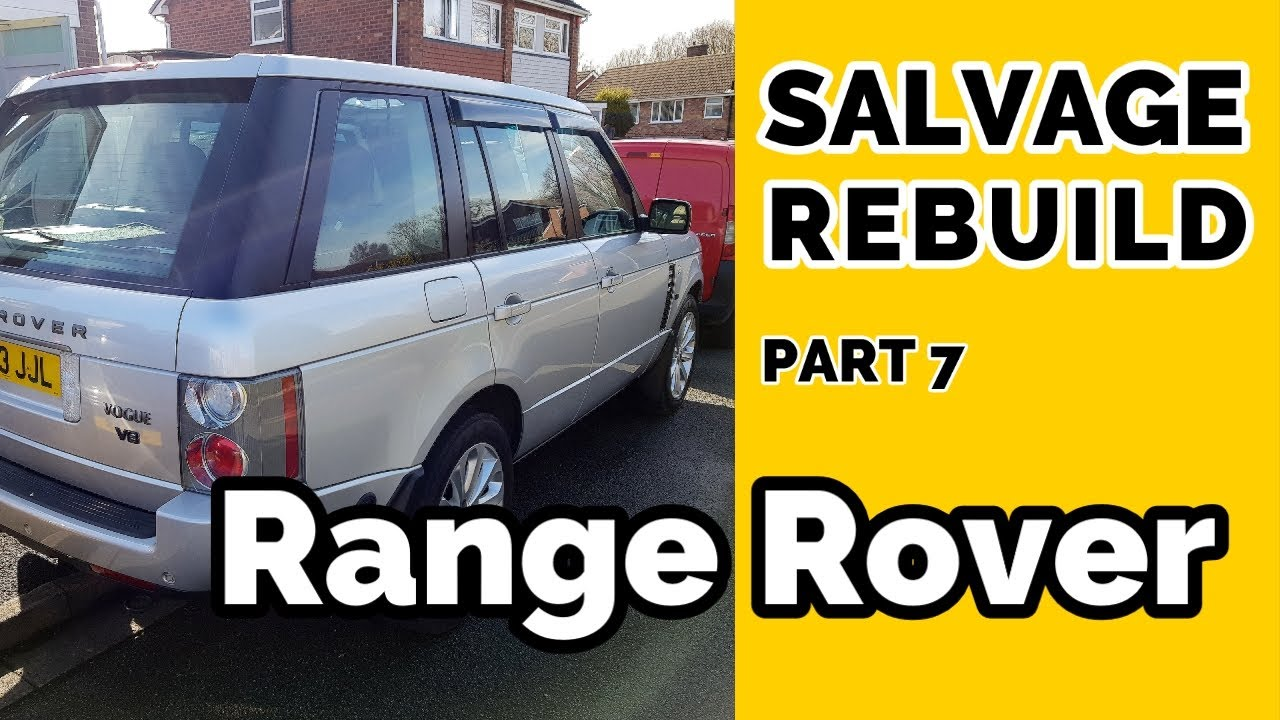Salvage Range Rover Rebuild VIN Plate Headlamps and Air Suspension Problem