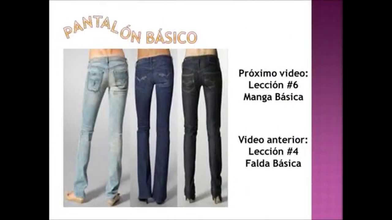 Alta Costura: Lección 5 (Pantalón Básico) - YouTube