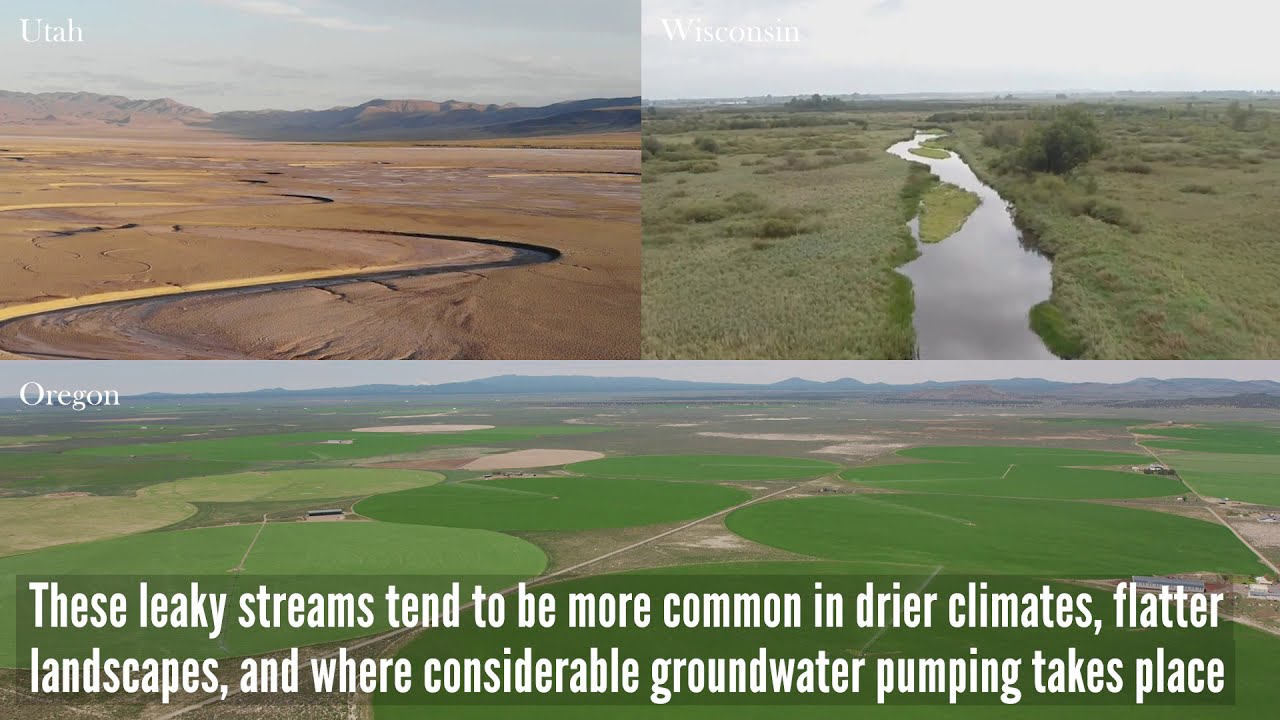 Widespread potential loss of streamflow into underlying aquifers across the USA