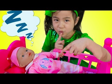 Jannie Pretend Play Babysit Cute Cry Baby Doll Kids Toys for Girls
