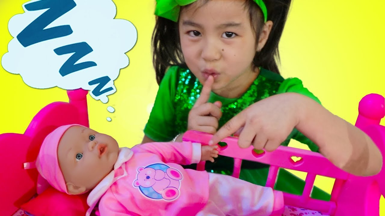 Download Jannie Pretend Play Babysit Cute Cry Baby Doll Kids Toys for Girls