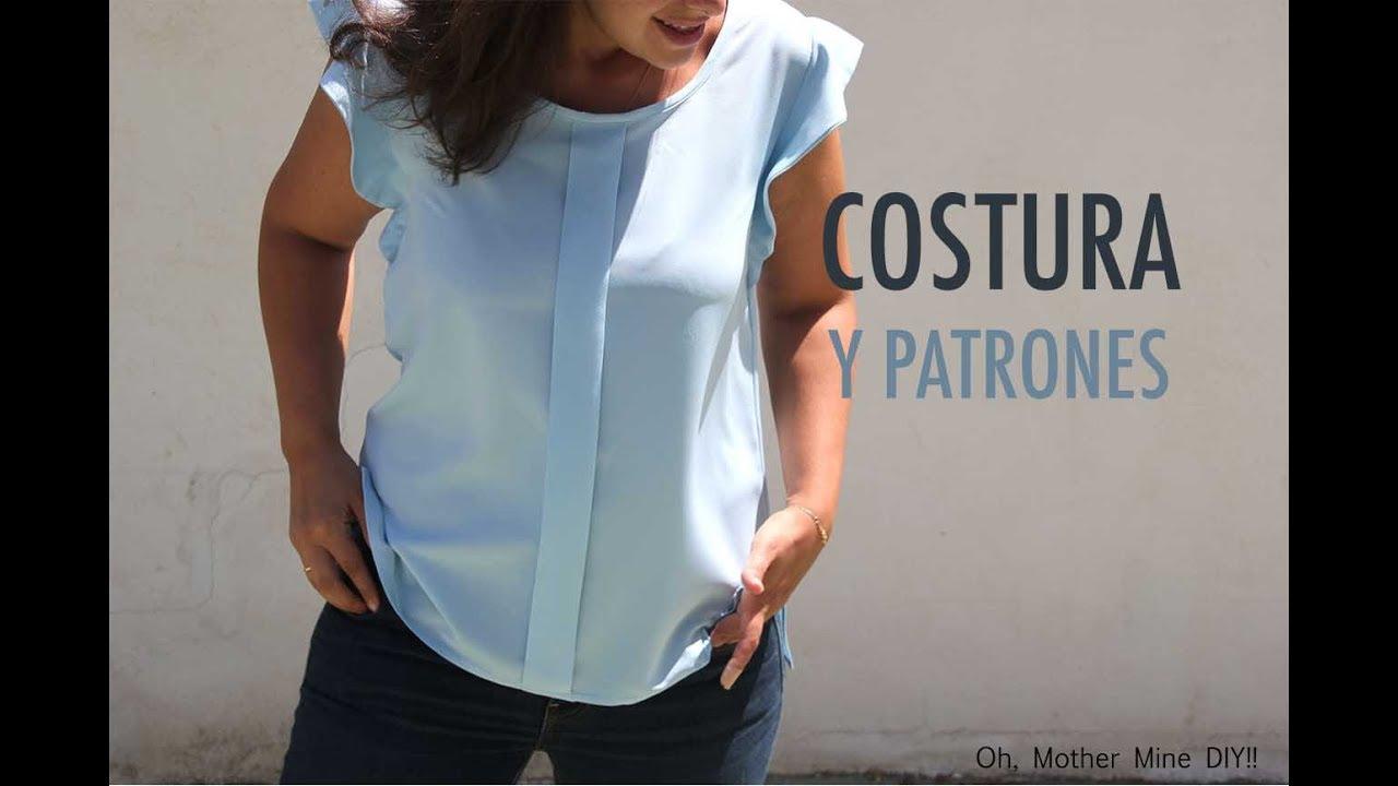 c54aa0abbe DIY Costura  Blusa mujer (patrones gratis) - YouTube