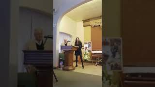 Pete's funeral Kristen