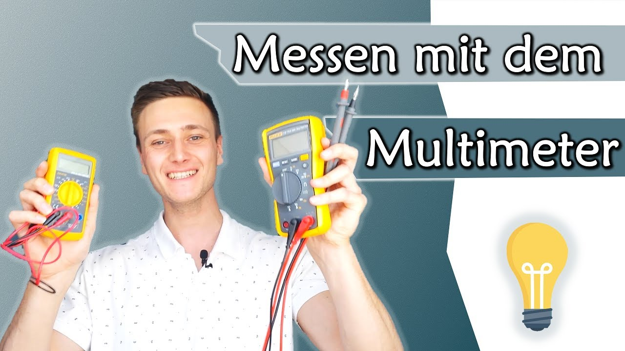 spannung strom und widerstand mit dem multimeter messen tutorial gleichstromtechnik 6. Black Bedroom Furniture Sets. Home Design Ideas