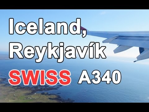 Swiss A340 - Takeoff in Iceland, Reykjavik HD