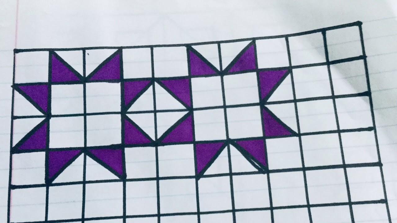 رسم زخرفة بأشكال هندسية حتي تعطيني زخرفة بشكل بسيط رقم 135 Youtube