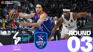 ASVEL rallied from 19 down to stun the champs!  Round 3, Highlights