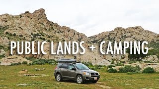 Dispersed Camping on Puḃlic Lands Explained! (Finding Free & Cheap Campsites)