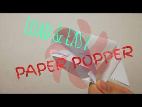 How To Make PAPER POPPER (Load & Easy)