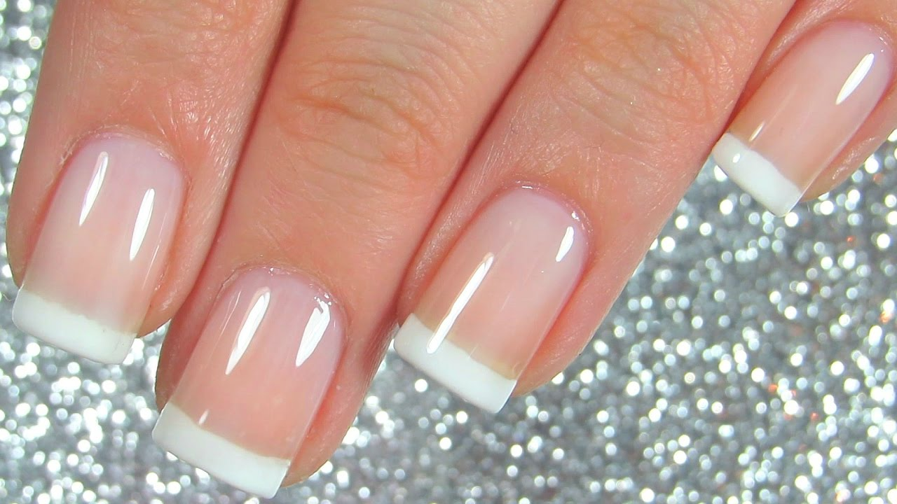 Easiest French Manicure Nail Tutorial - YouTube