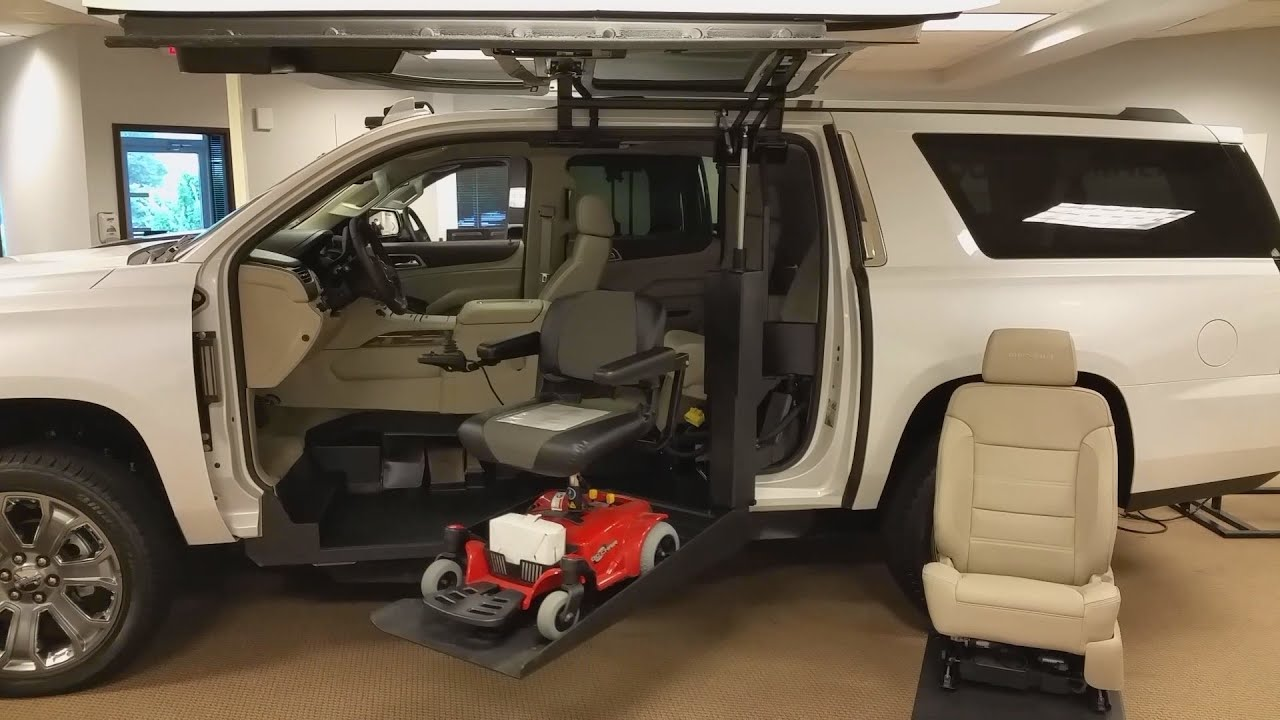 GMC Yukon XL Denali Power Chair Lift  YouTube