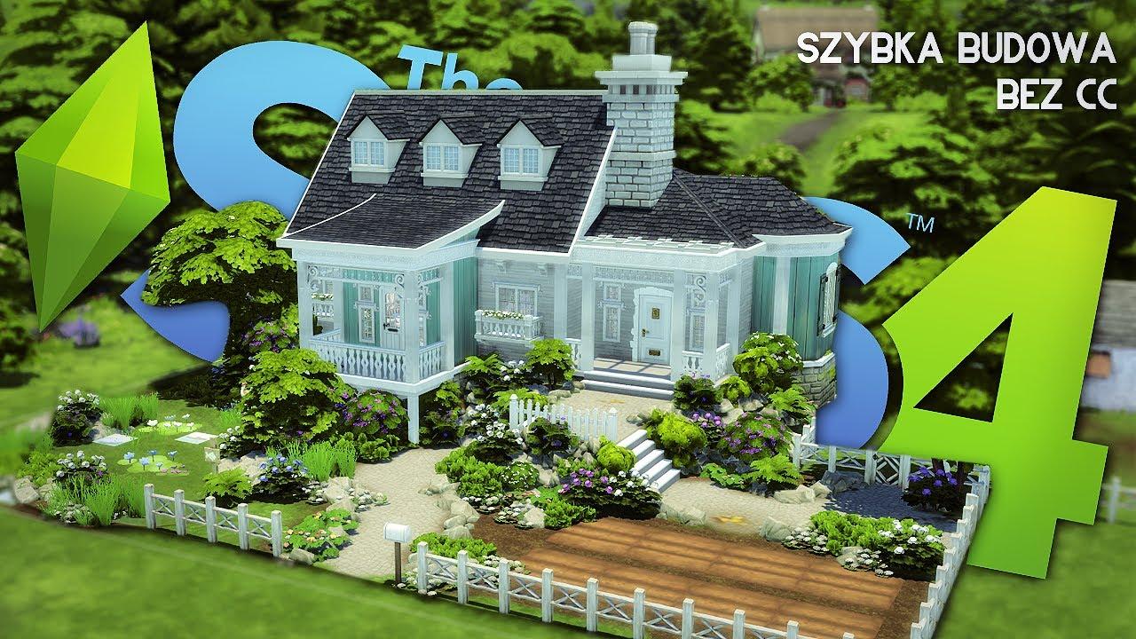 Wiejska sielanka - mały parterowy dom dla simów, The Sims 4 szybka budowa, bez modów, Mrs Scarlett