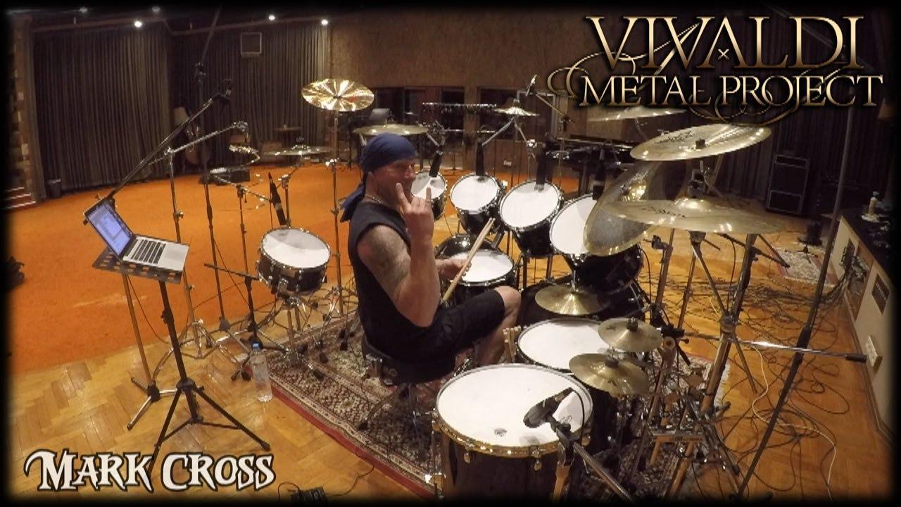 Mark Cross drum recording for Vivaldi Metal Project 2nd studio album