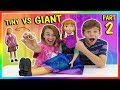 TINY THINGS VS GIANT THINGS | SWITCH UP CHALLENGE | We Are The Davises