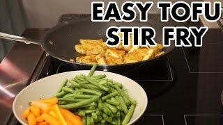 easy tofu stir fry cooking with positive smash