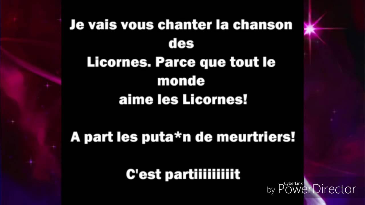 La Chanson Des Licorne (Natoo) Parole
