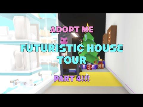 Adopt Me Futuristic House Tour Part 4 Roof Glitch Hotel Final Part Youtube