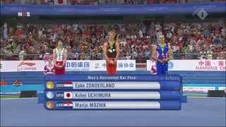 Epke Zonderland World Champion Horizontal Bar Nanning China 2014 HD