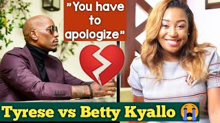 Betty Kyallo demands apology from Hollywood star Tyrese
