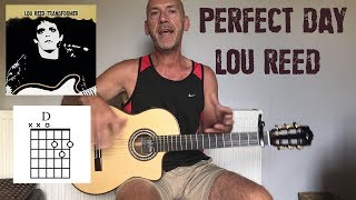 Perfect Day - Lou Reed - Guitar lesson by Joe Murphy