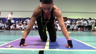 EVA CLARKE WORLD RECORD 1+2 Most consecutive 251 reps and most in 15mins 385 reps