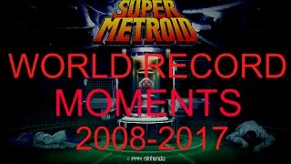 Super Metroid - Every WORLD RECORD moment (2008-2017) 100% items!