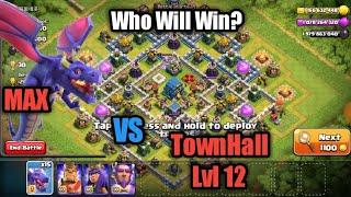 Dragon Lvl Max Vs TownHall Lvl 12