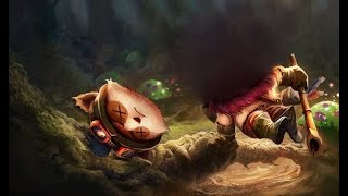 DEFEND TEEMO , GET QUADRA KILL! - League of Legends funny moments
