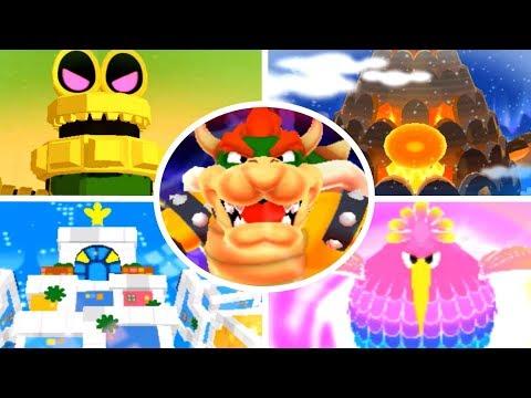 Mario & Luigi: Dream Team - All Giant Bosses (No Damage)