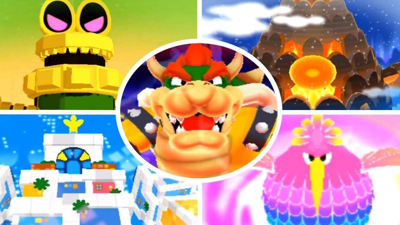 Mario Luigi Dream Team All Giant Bosses No Damage