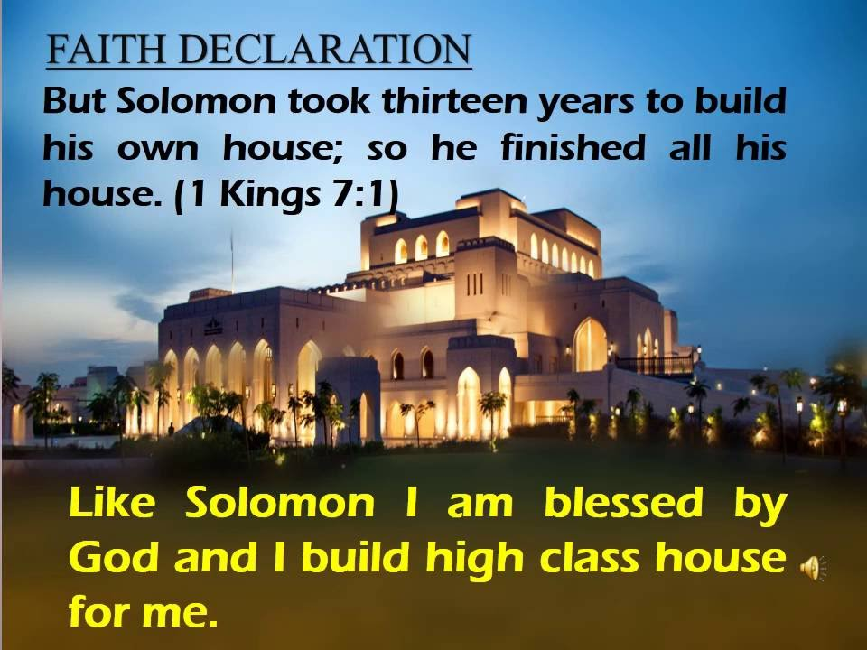 Powerful Prayer And Declaration For Own House