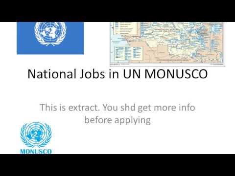 National Jobs in UN MONUSCO 28 4 17
