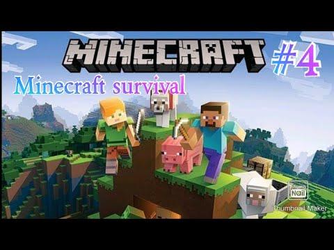 minecraft survival #4 building a mob farm part 1 YouTube