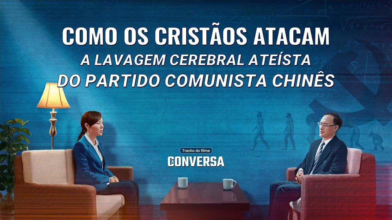 """Filme evangélico """"A conversa"""" Trecho 2 – Como os cristãos atacam a lavagem cerebral ateísta do Partido Comunista Chinês"""