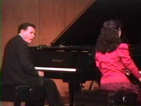 Melissa Master Class with Abbey Simon Un Sospiro Liszt 1_19_93 Age 13
