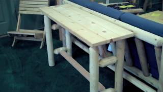 Logfurnitureplace.com: A Look At The Lakeland Log Sofa Table