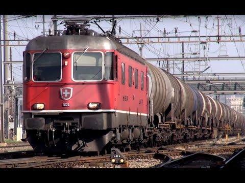 Zug um Zug-164 Güterzüge in Pratteln, Schweiz - 164 freight trains,Switzerland - Zug,trainfart,train