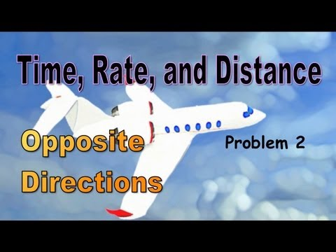 Time, Rate, And Distance (Opposite Directions)