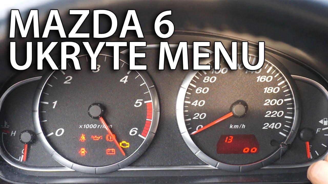 Mazda 6 Ukryte Menu Zegar 243 W Test Wskaz 243 Wek Tryb