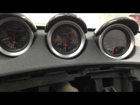 Defi Gauges in turbo Nissan 370z