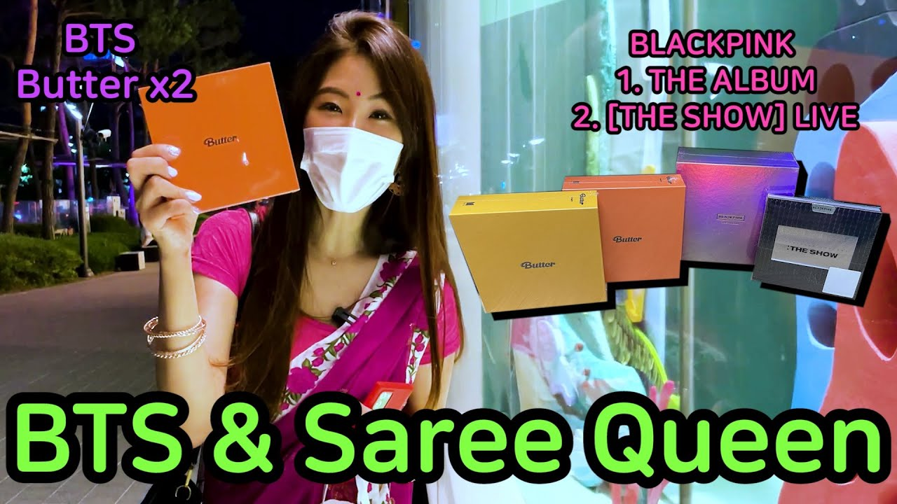 Korean Saree Queen & BTS & Blackpink | Do you want BTS Album?