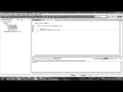 Java Tutorial 5 - Eclipse source structure and project creation ,simple programs