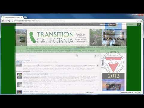 Transition California Network Tutorials - Part 05: Forums