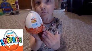 aly opens a kinder joy egg