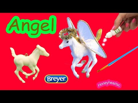 Breyer Holiday Stablemates - Christmas Angel Foal - Ornament Activity DIY Kit Review Video