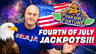 🎇 4th of July JACKPOTS! 🎇 Classic Dragon Celebration, Pharaoh's Fortune, Black Widow + MORE