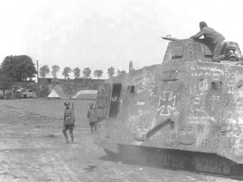 "Testing WW1 German A7V Tank ""Elfriede"""